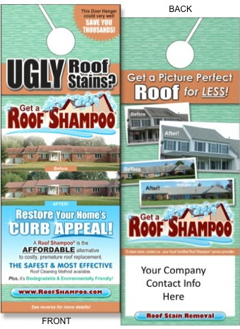 Roof Cleaning Marketing Brochures  Door Hangers \u2014 Add Eco-Friendly