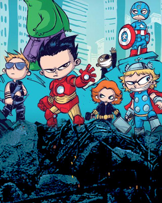 San Diego Wallpaper Hd The Avengers Exclusive Sdcc Poster By Skottie Young