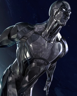 Really Cool 3d Wallpapers Captivating Silver Surfer Character Art By Josh Herman