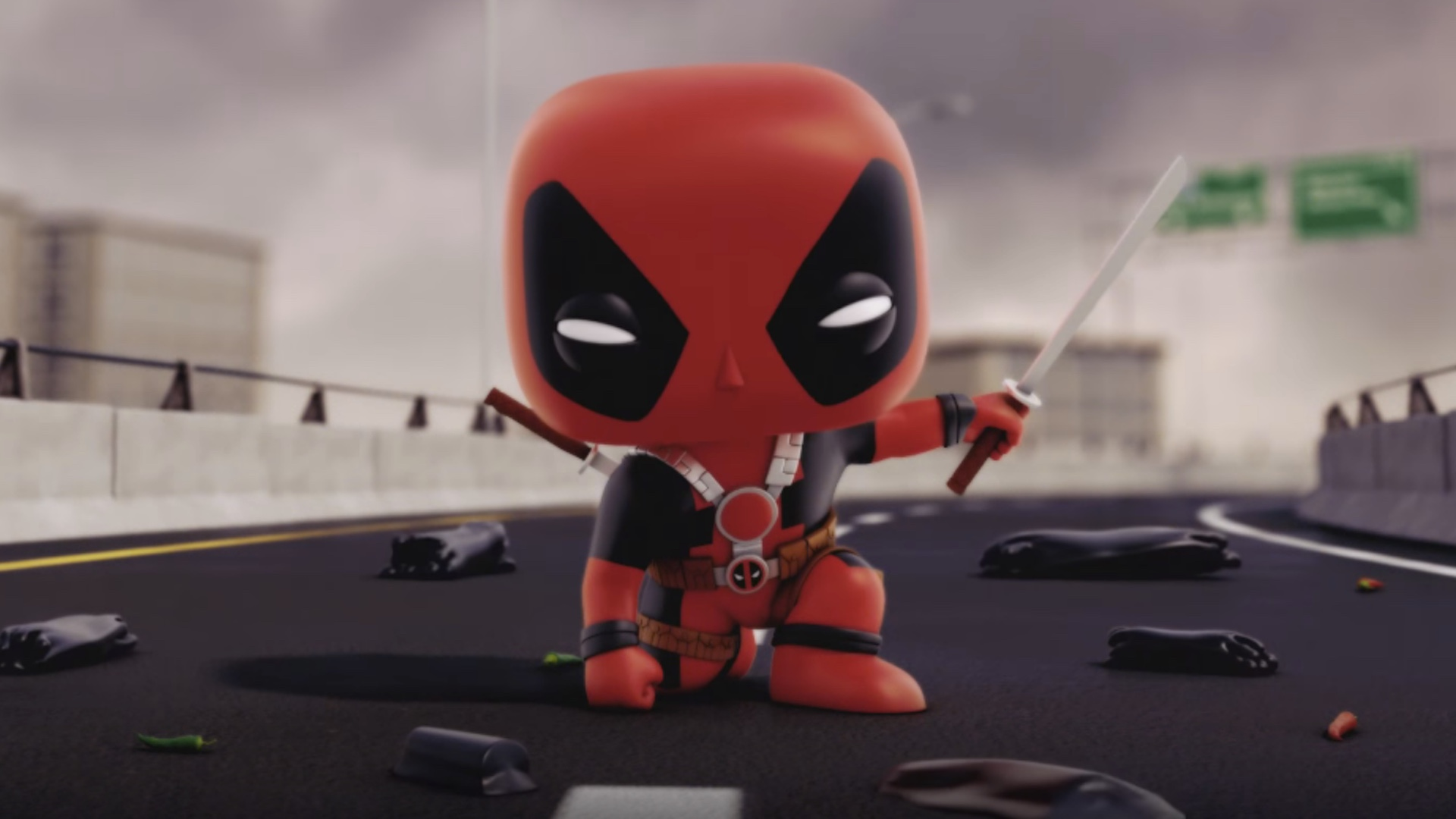 How To Get Animated Wallpapers Deadpool Battles Venom In Final Marvel Funko Animated