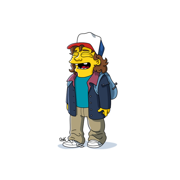 Gravity Falls Cast Wallpaper Stranger Things Characters Get Simpson Ized In Cool Fan