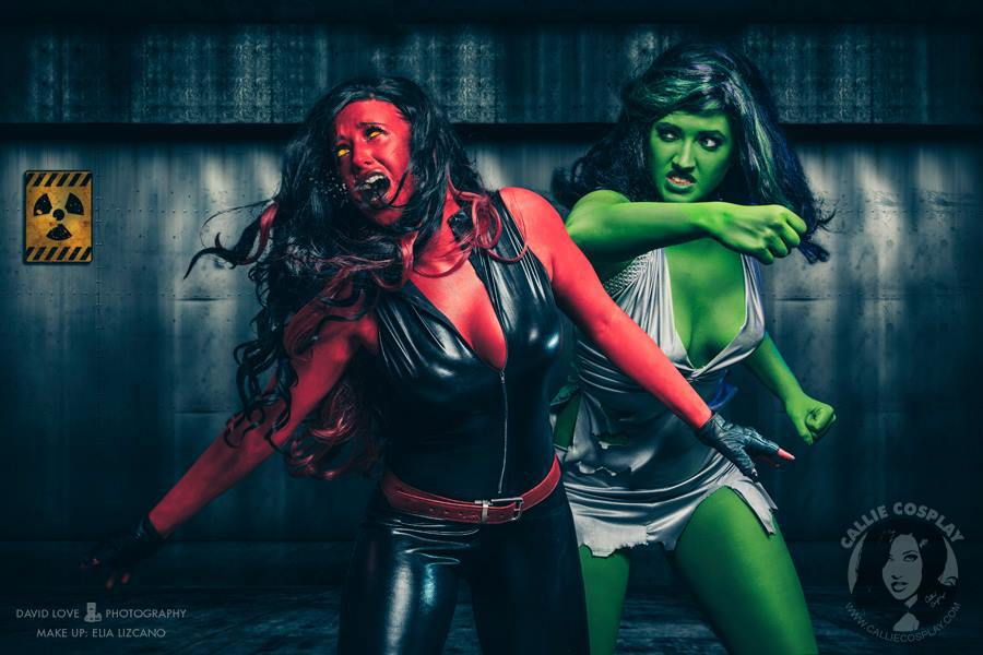 Girl Gaming In Space Live Wallpaper She Hulk Cosplay By Callie Cosplay Green And Red