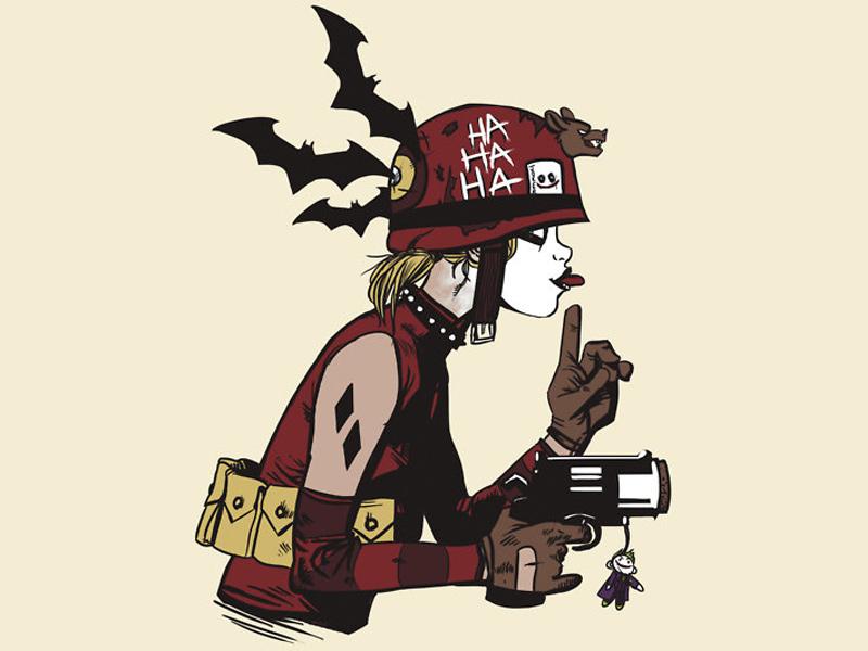 Tank Girl And Booga Wallpaper Harley Quinn And Tank Girl Mashup Art Geektyrant