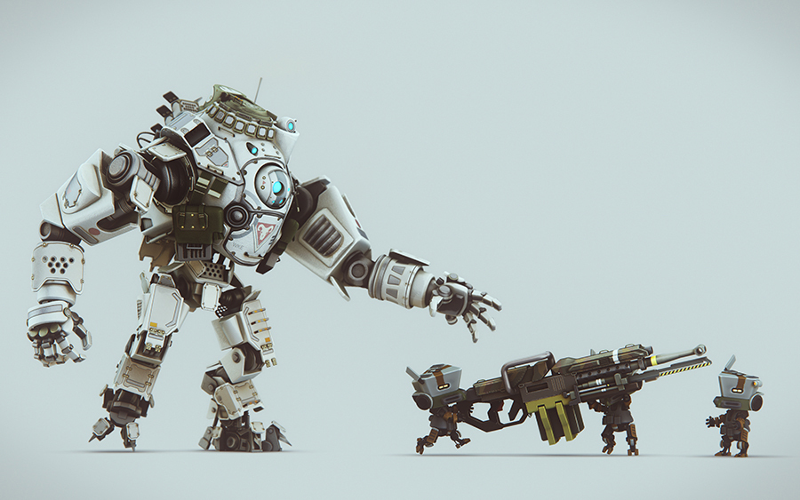 Epic Titan Fall Wallpaper Adorable Titanfall Fan Art Series Quot Stand By For Tiny