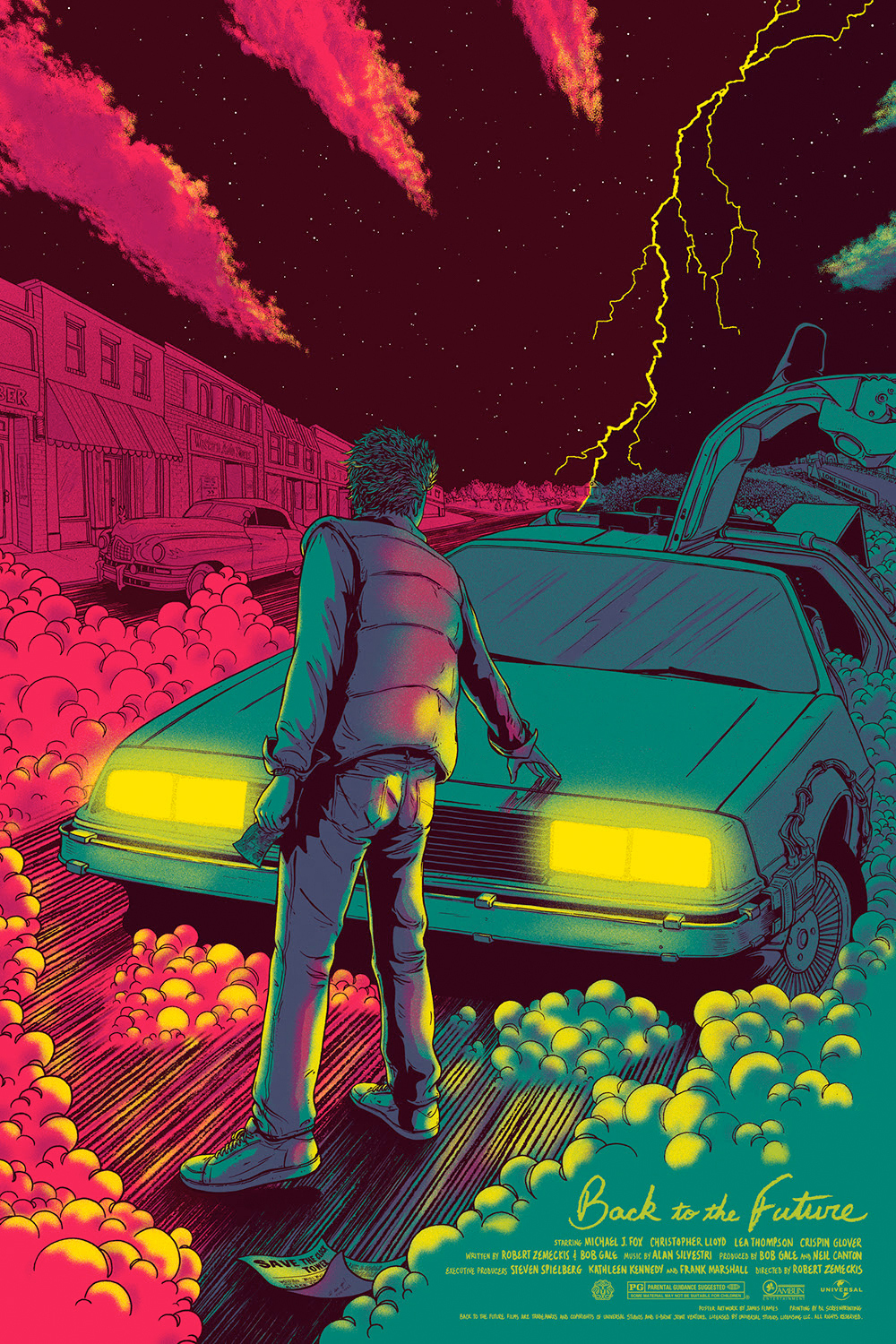 Live Car Wallpapers For Iphone 7 Striking Back To The Future Art Prints From Mondo And Hero