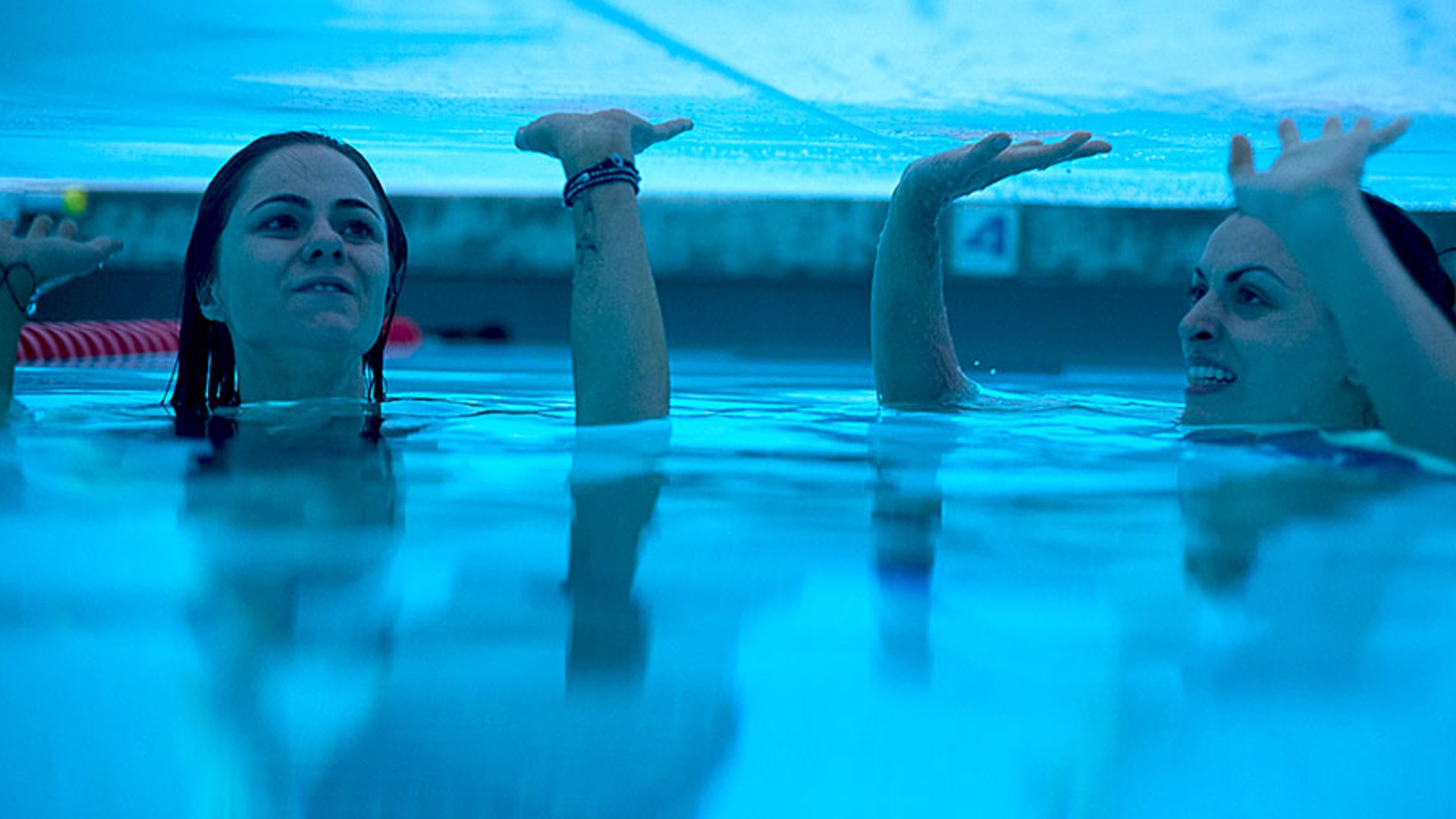 Pool Two Girls Are Trapped In A Public Pool In Trailer For The Horror