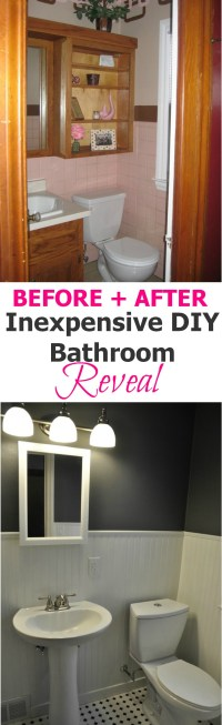 Pink Bathroom Makeover  Decor and the Dog