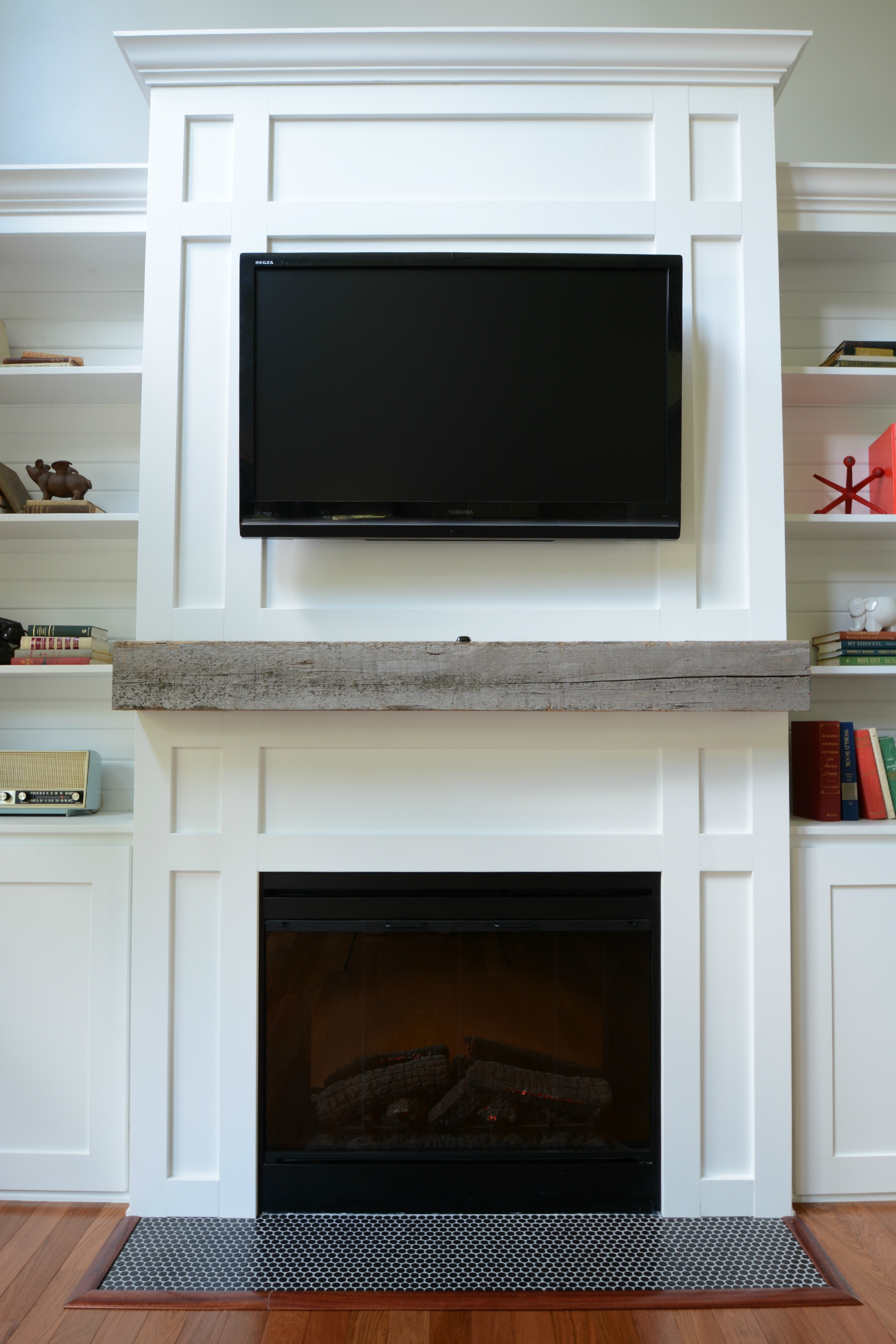 Fireplace Beams How Install A Barn Beam Mantel Decor And The Dog