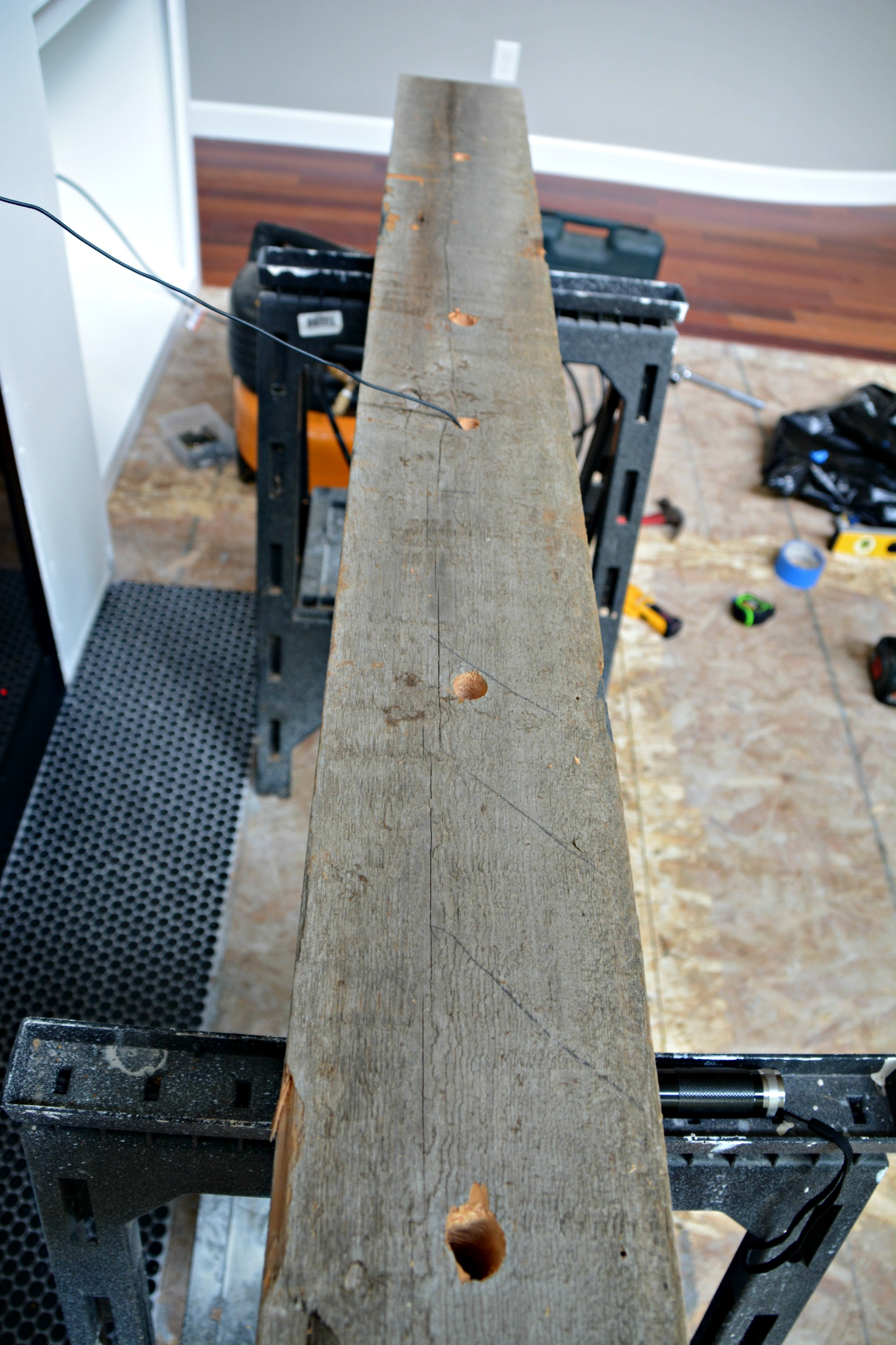 Fireplace Beam Mantel How Install A Barn Beam Mantel Decor And The Dog