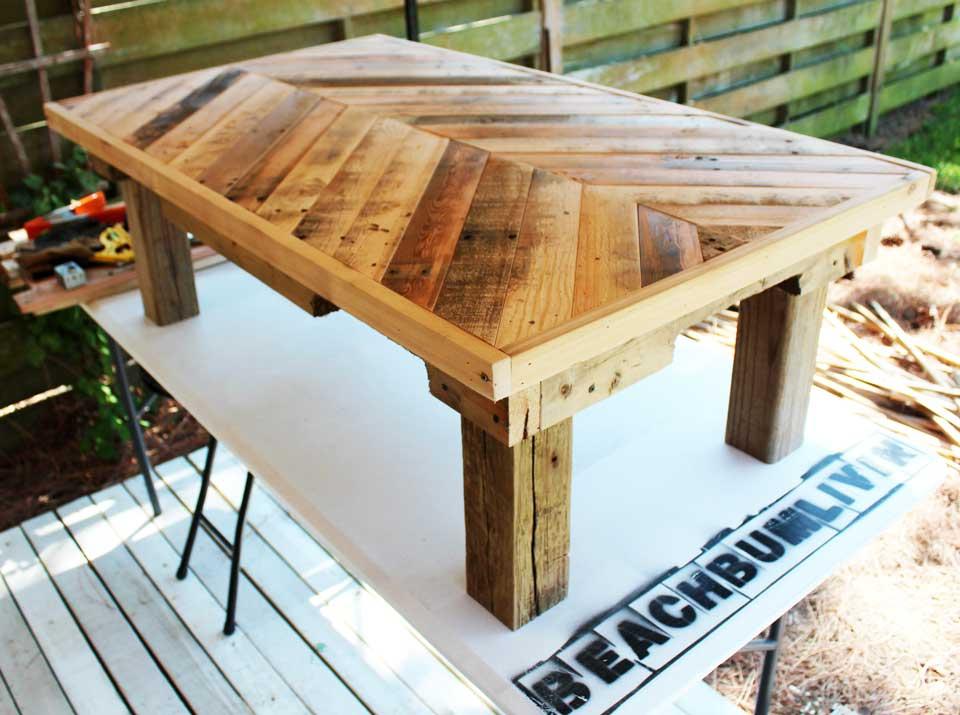 Original Pallet Wood Coffee Table Beachbumlivin
