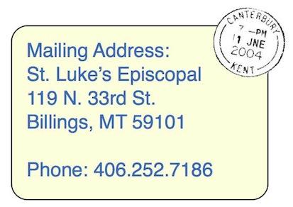Hours, Address  Phone \u2014 St Luke\u0027s Episcopal Church