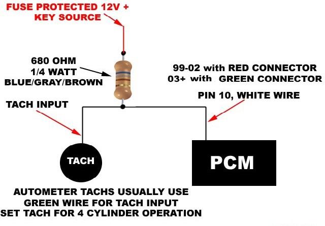 aftermarket tach wiring