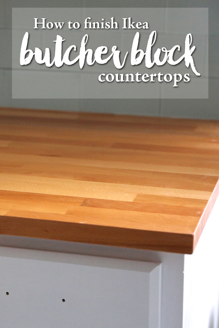 How To Waterproof Wood Countertop How To Finish Ikea Butcher Block Countertops Weekend Craft