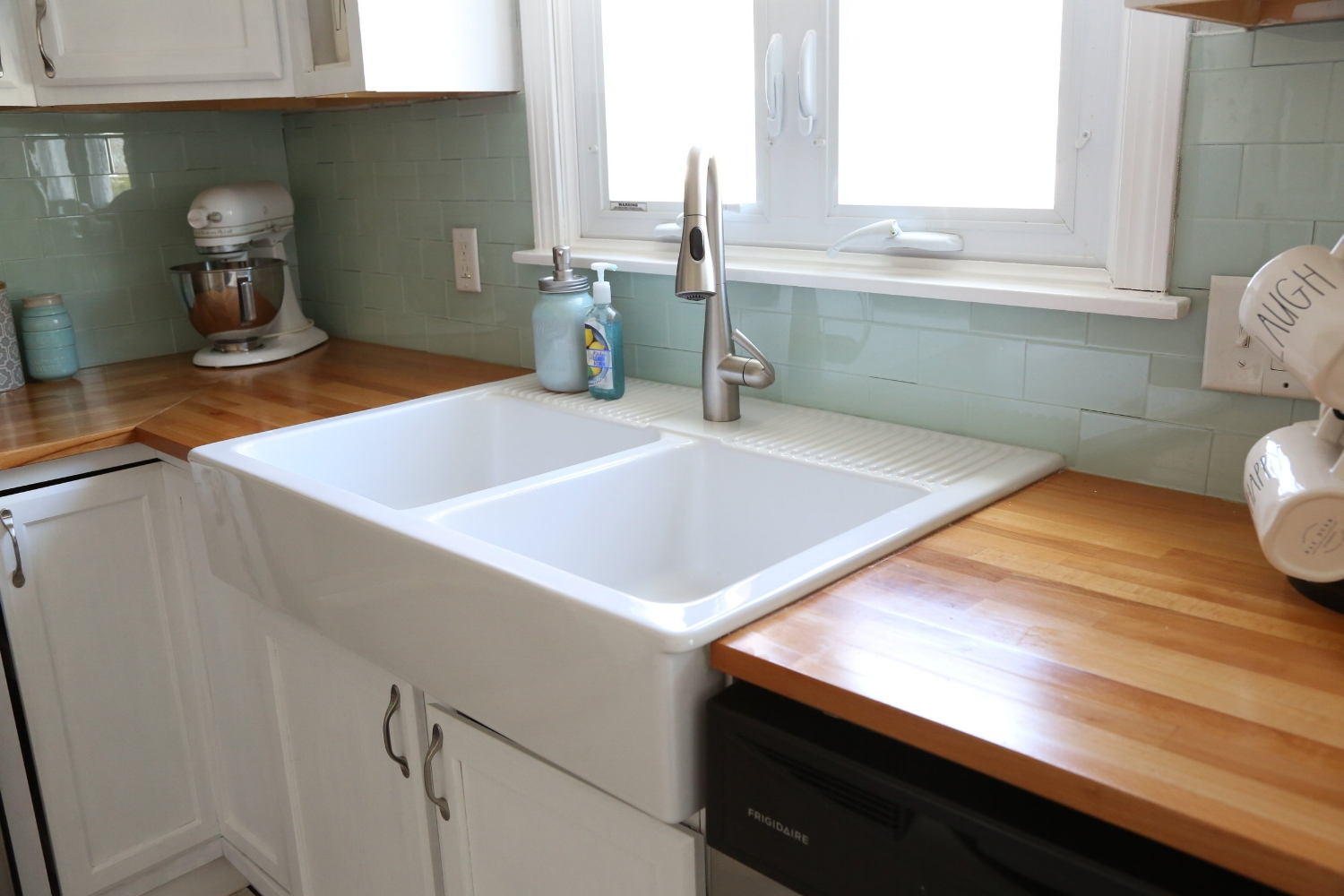 How Do You Attach Crown Molding To Kitchen Cabinets Installing An Ikea Farmhouse Sink — Weekend Craft