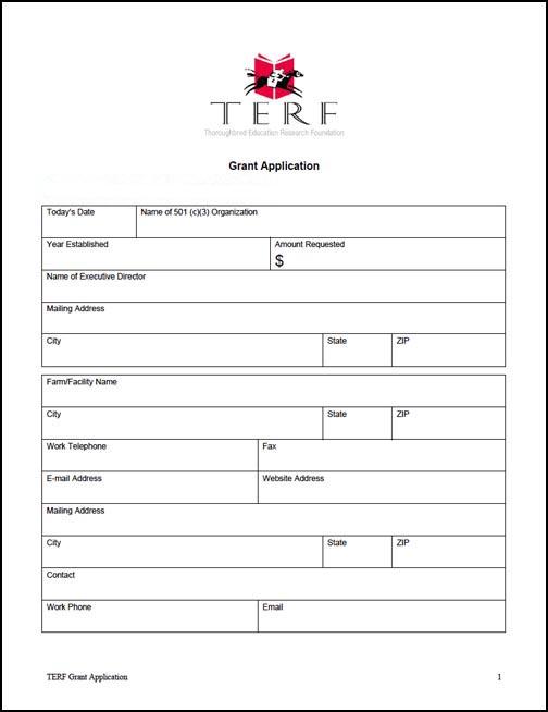 Grant Application \u2014 TERF