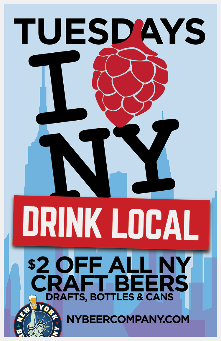 Beer Specials Drink Local Tuesdays New York Beer Company