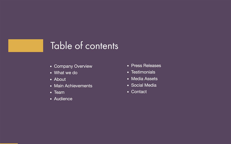 Press Kit Template (Free PDF  PPT Download) \u2014 Slidebean