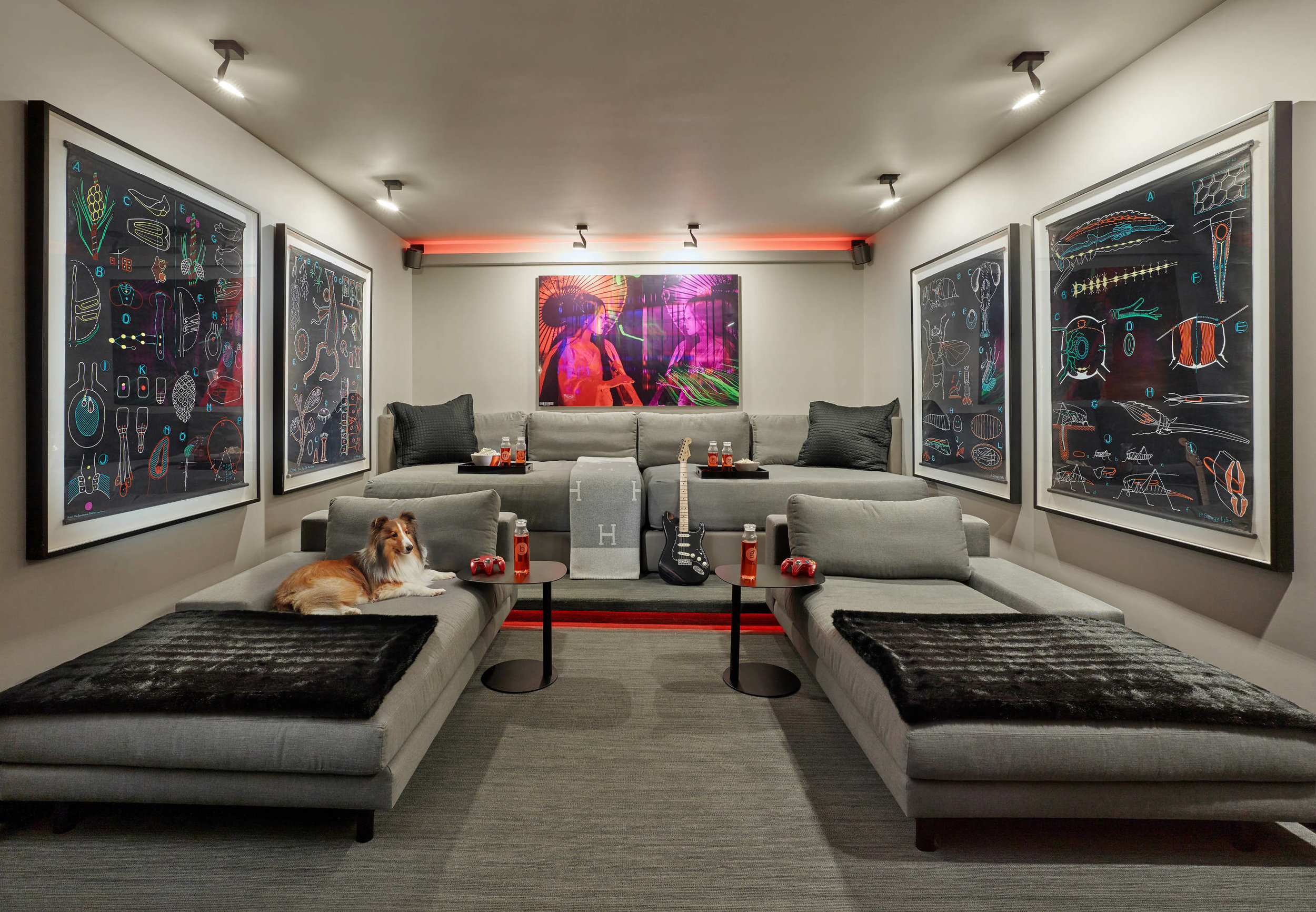 Home Theater Room Before After A Typical Garage Becomes A Vibrant Home Theater