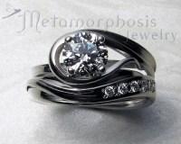 Unique - free-form, engagement ring set - Design your own ...