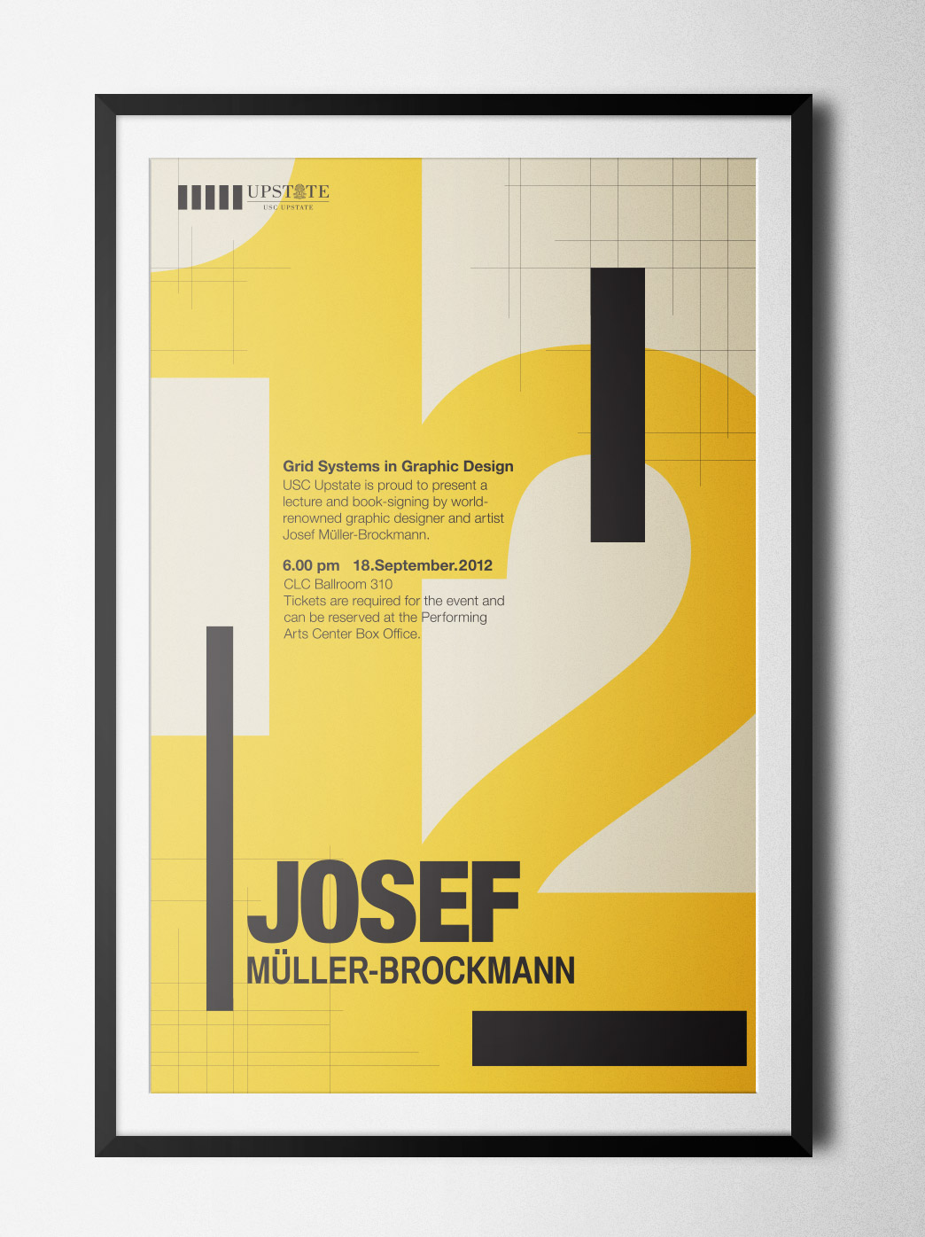 graphic design himself and countless other international typographic style artists and designers this poster aligns perfectly to a 3 pica grid