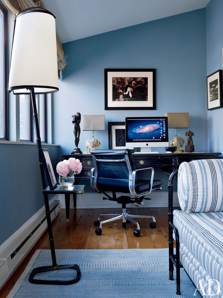 office space of the dayrooms with blue \u2014 The Decorista