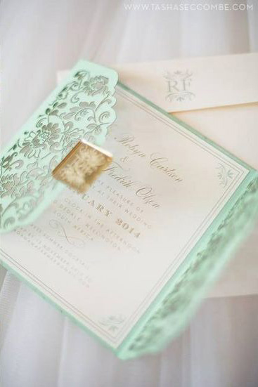 Wedding Wednesday Mint Green Wedding Details The