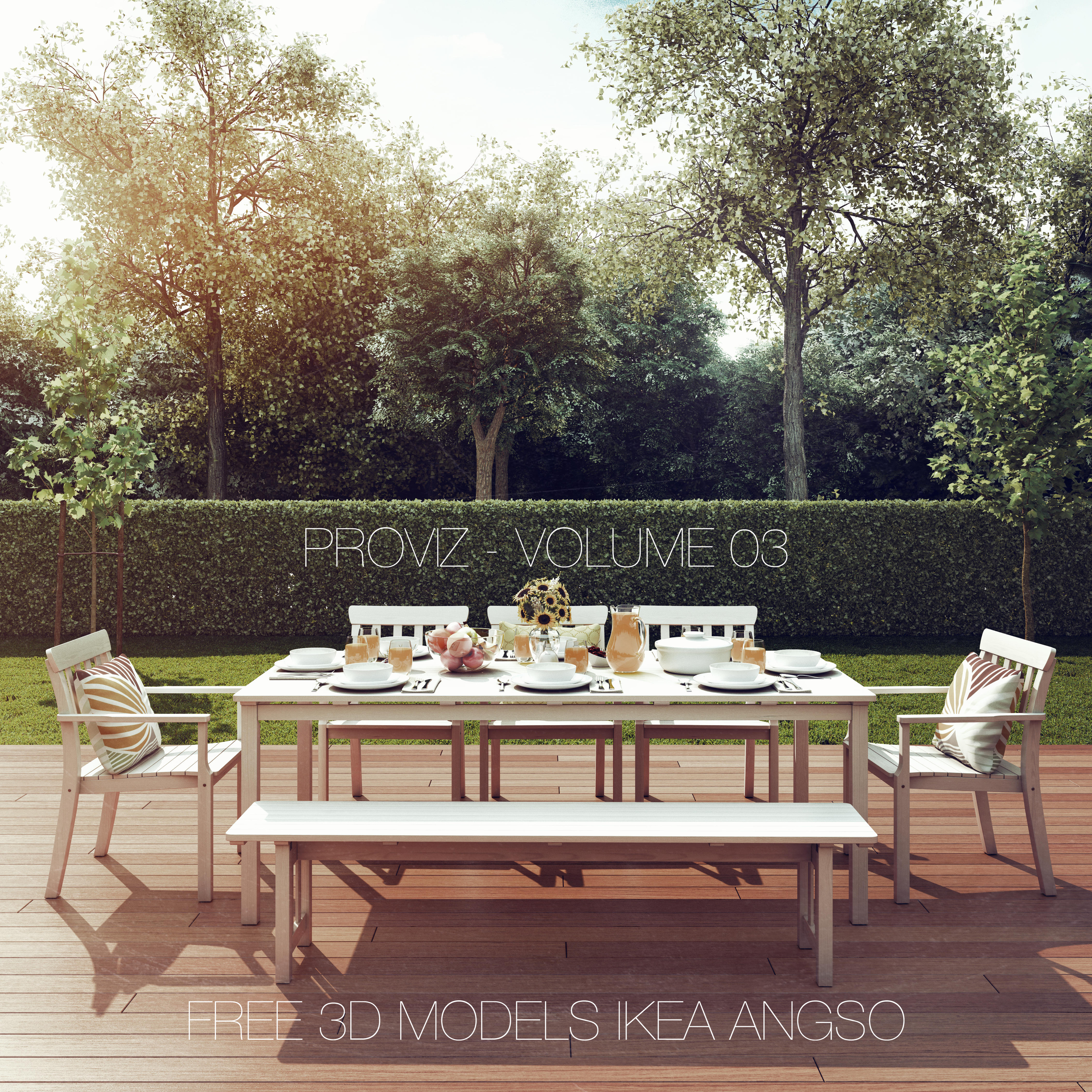 Ikea Outdoor Furniture Free 3d Models Ikea Angso Outdoor Furniture Series Proviz