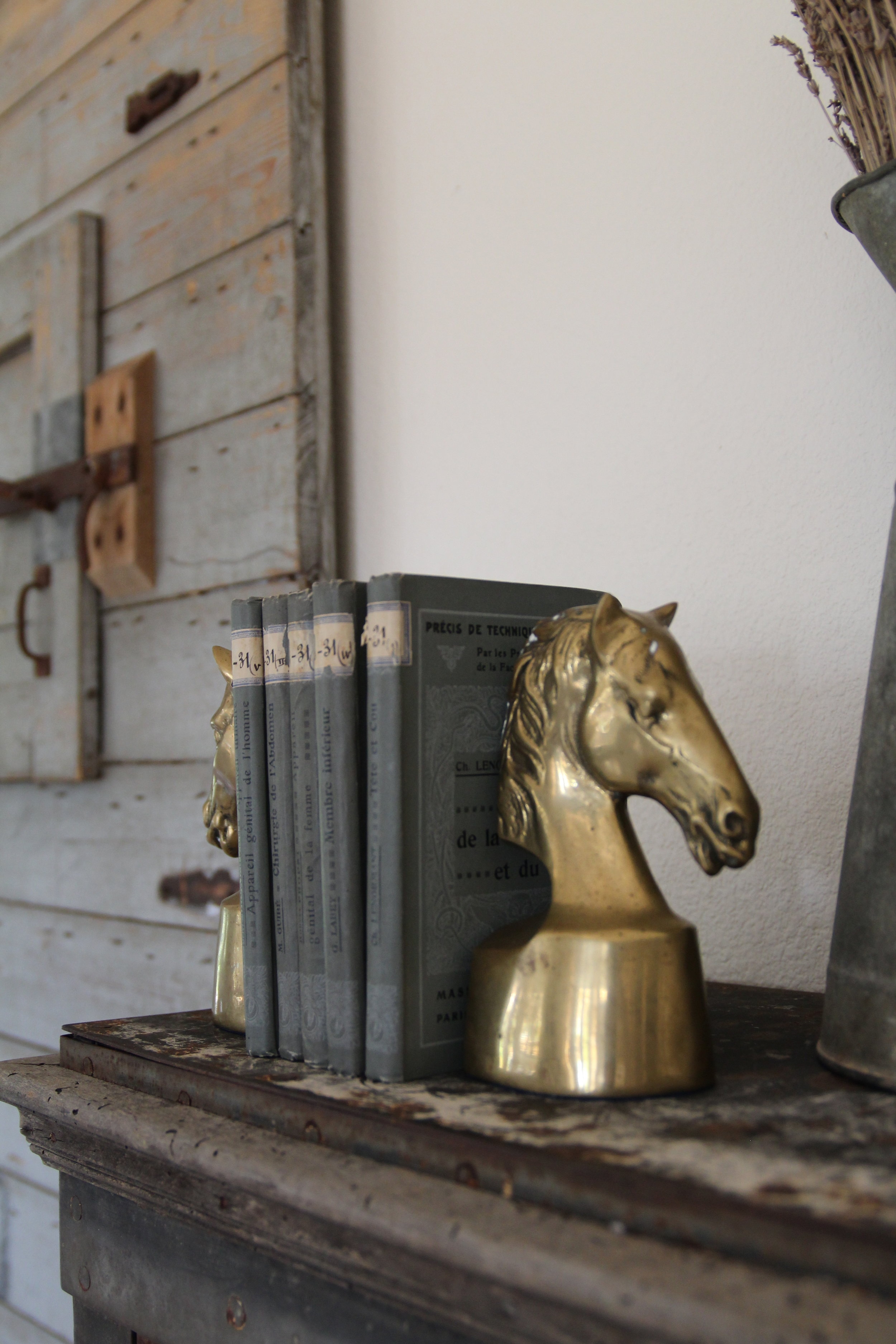 Interieur Style Vintage Vintage Equestrian Brass Bookends