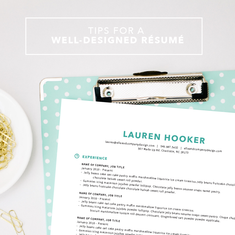 Tips for a Well-Designed Resume
