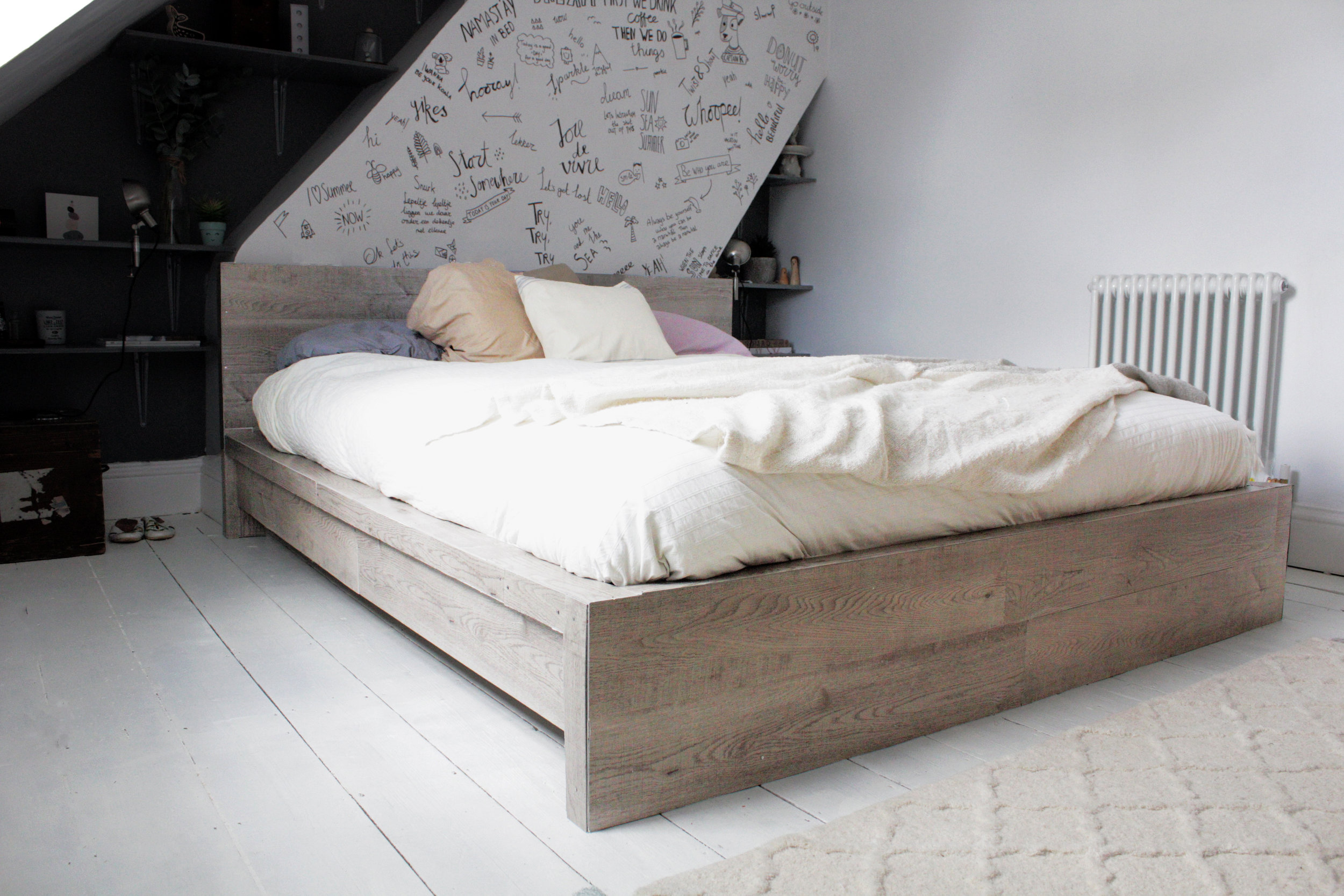 Ikea Malm Bed Ikea Hack Rustic Look For A Malm Bedframe Hester S Handmade Home