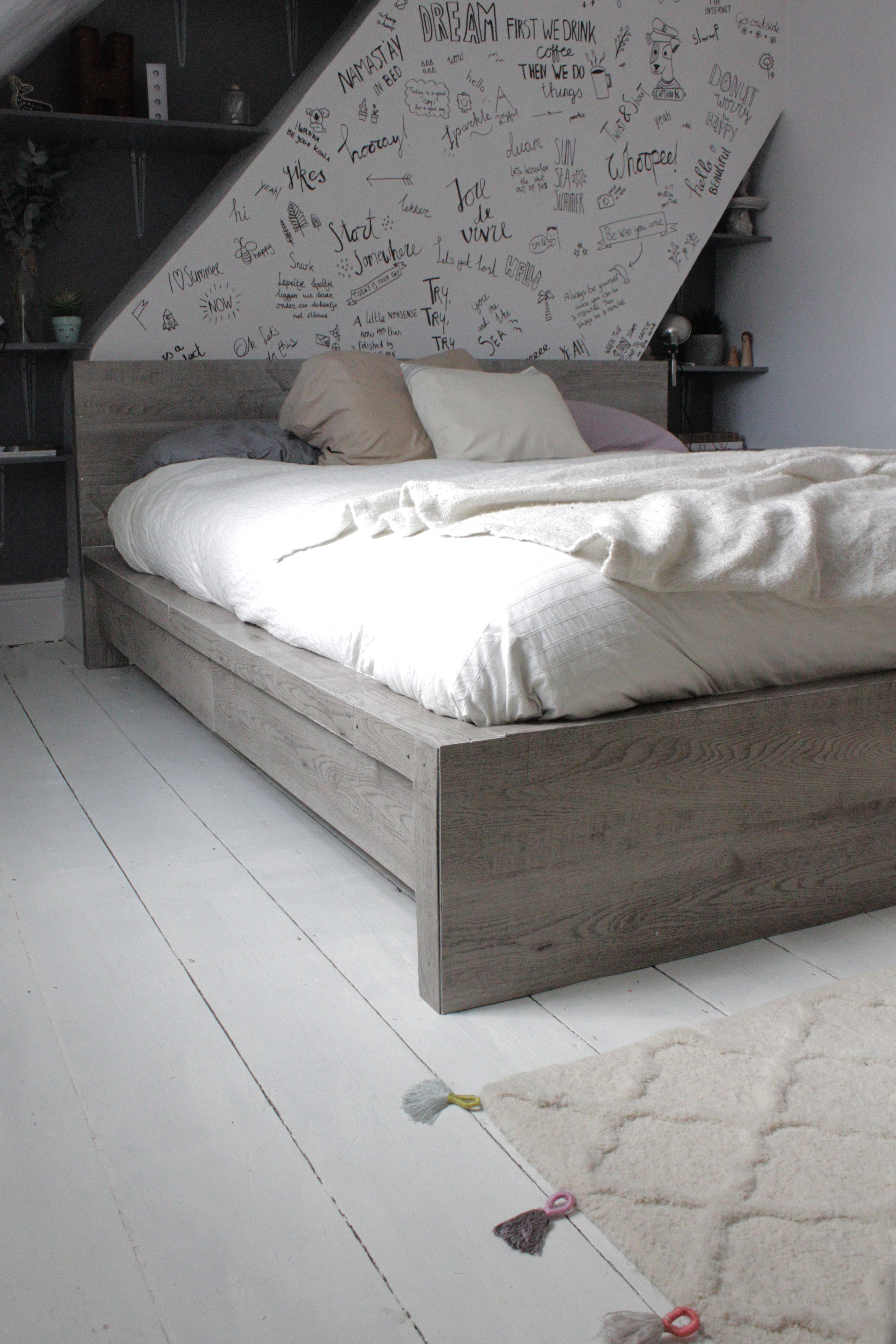 Ikea Malm King Bed Ikea Hack, Rustic Look For A Malm Bedframe — Hester's