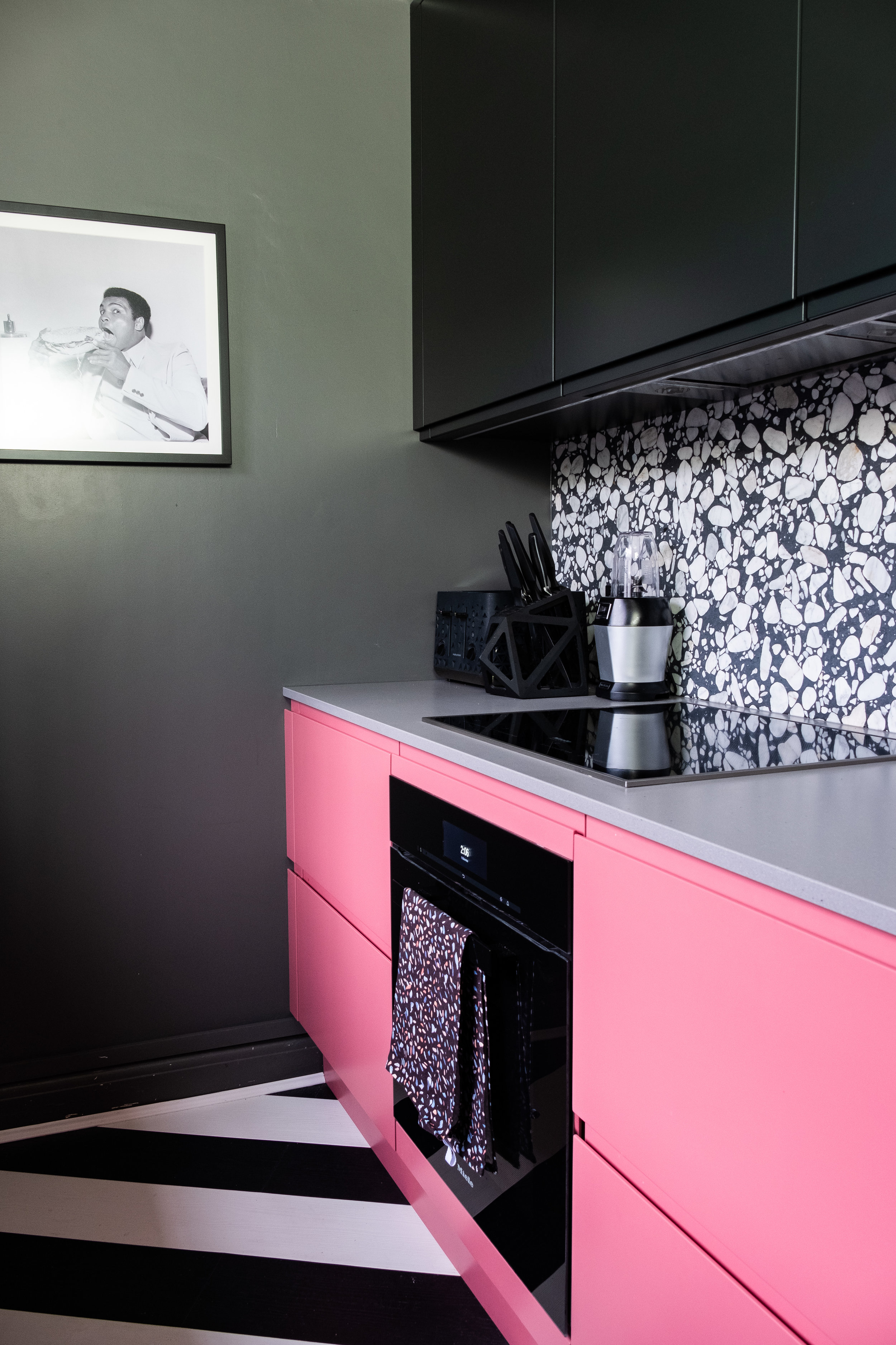 John Lewis Leon Sofa A Pink Blue And Terrazzo Kitchen Makeover Gifted Sarah Akwisombe