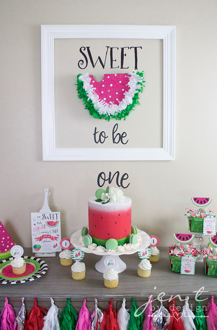 A Watermelon First Birthday Party with Cricut \u2014 Jen T by Design - birthday party design