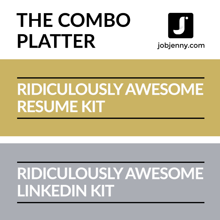 The Combo Platter (Resume + LI Kits) \u2014 JobJenny