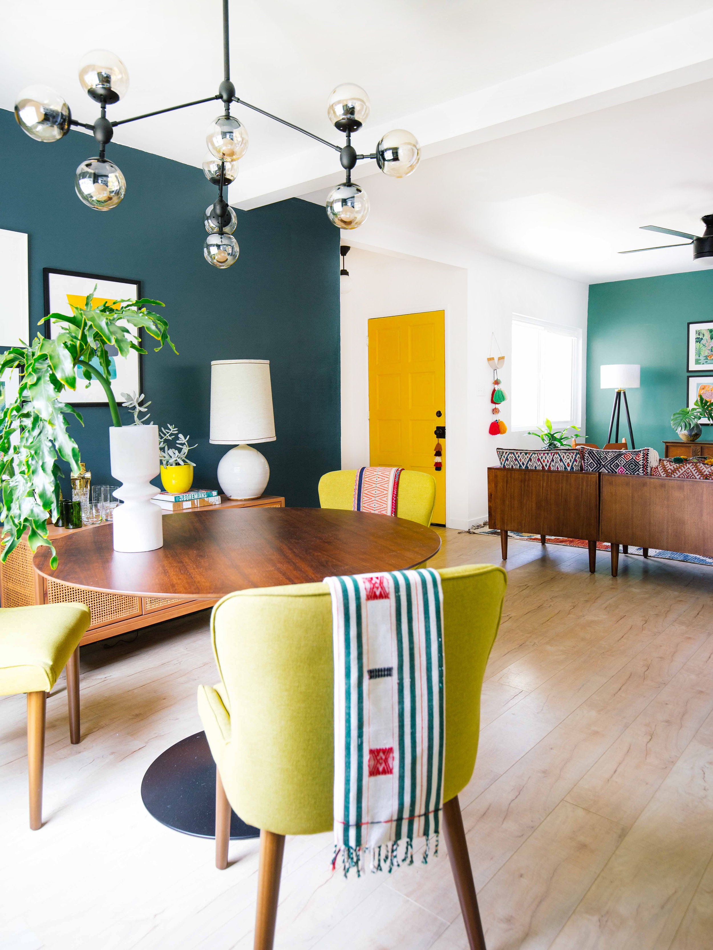 Mustard Color Paint For Kitchen How To Use Color In An Open Floor Plan Old Brand New