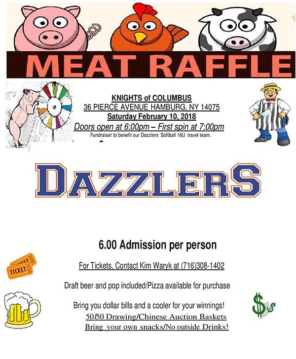 Dazzlers Meat Raffle \u2014 WNYMeatRaffles