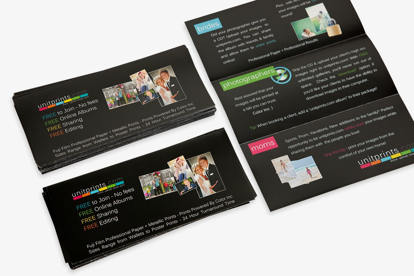Long Run Tri-Fold Brochures \u2014 Color Inc Professional Photo and