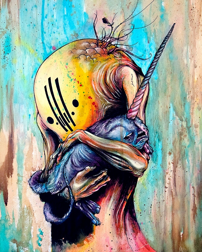 Fall Cabin Wallpaper Alex Pardee S Land Of Confusion