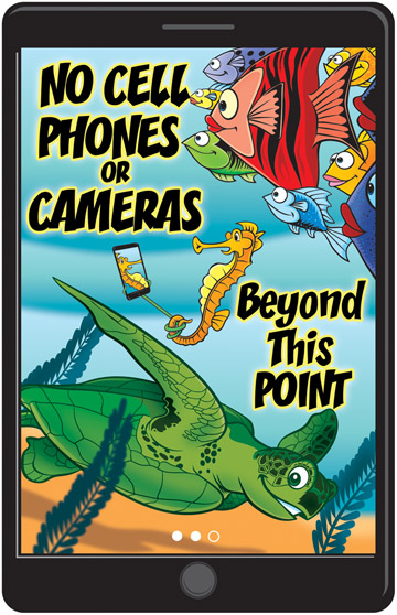 No Cell Phones/Cameras Beyond This Point - Ocean \u2014 Norris Hall Studio