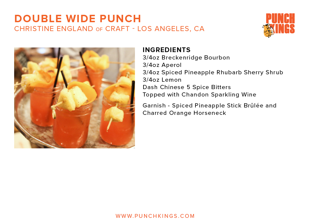 Recipe Cards \u2014 PUNCH KINGS - double recipe cards