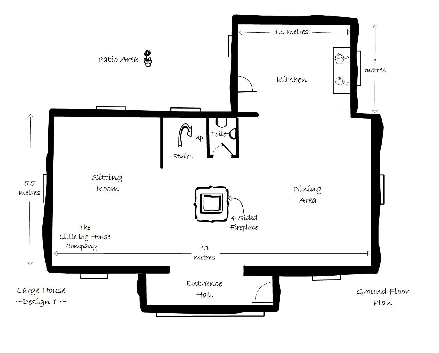 Floor Plan House Floor Plans The Little Log House Company