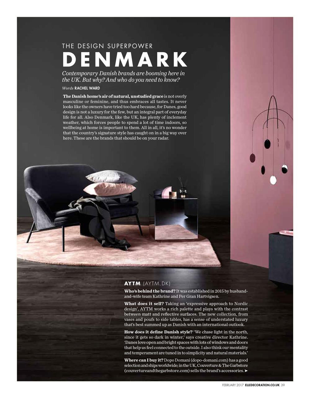 Elle Decoration Dk Elle Decoration Magazine Writing Rachel Ward