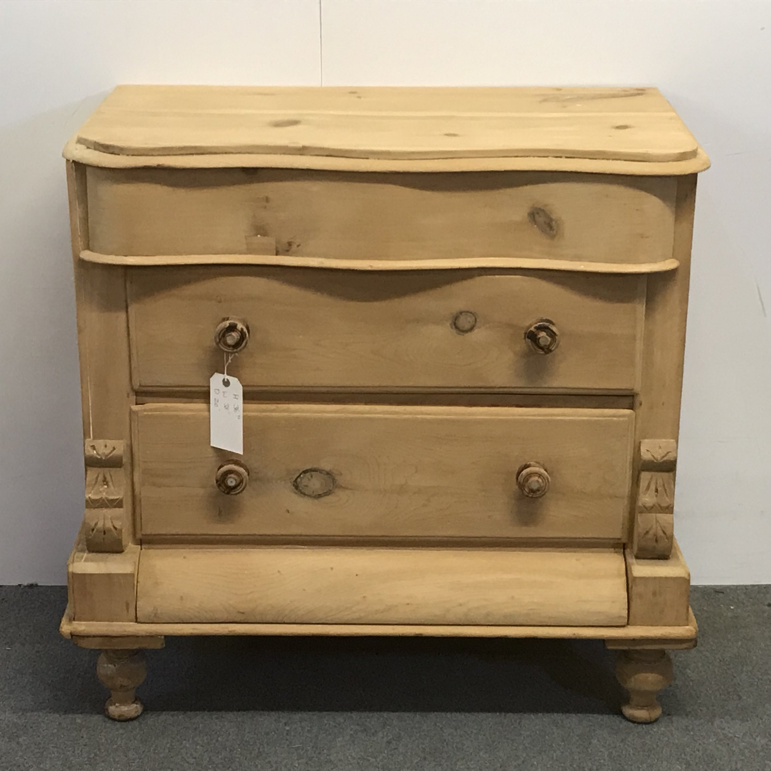 Victorian Pine Chest Of Drawers Victorian Pine Curved Fronted Chest Of Drawers A5603c