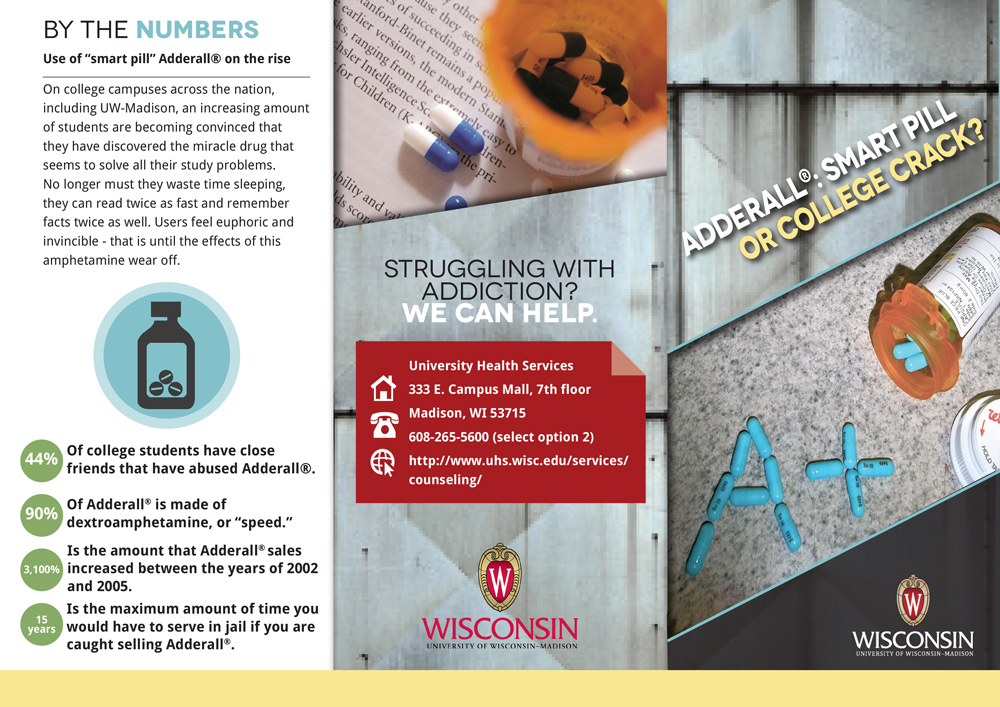 Adderall Facts Tri-Fold Brochure Brittany Johnson
