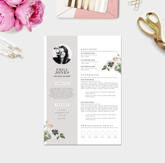 template cv girly