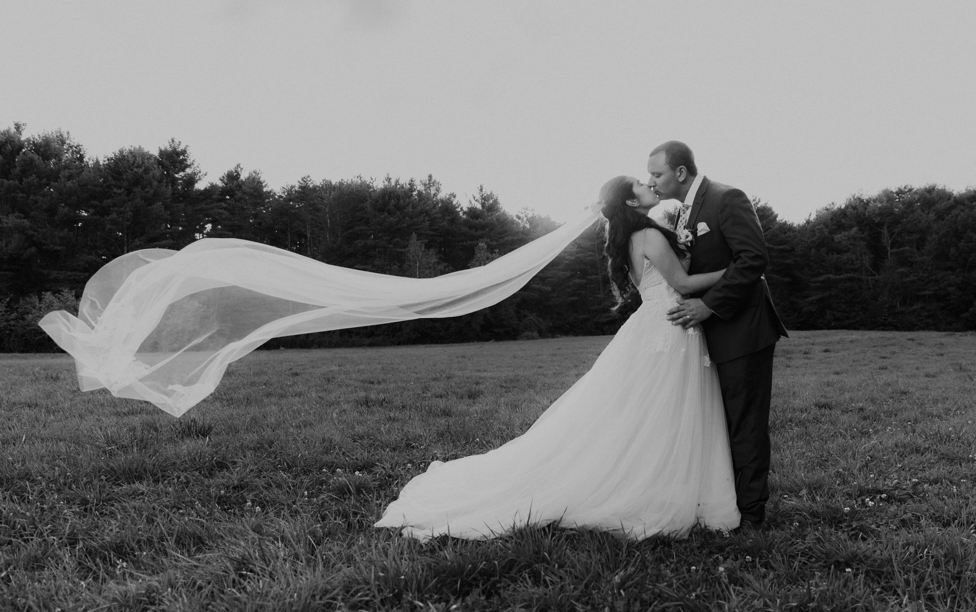 Best of 2017 Maine Wedding Photography in Black and White \u2014 Fidelio - wedding photo black and white