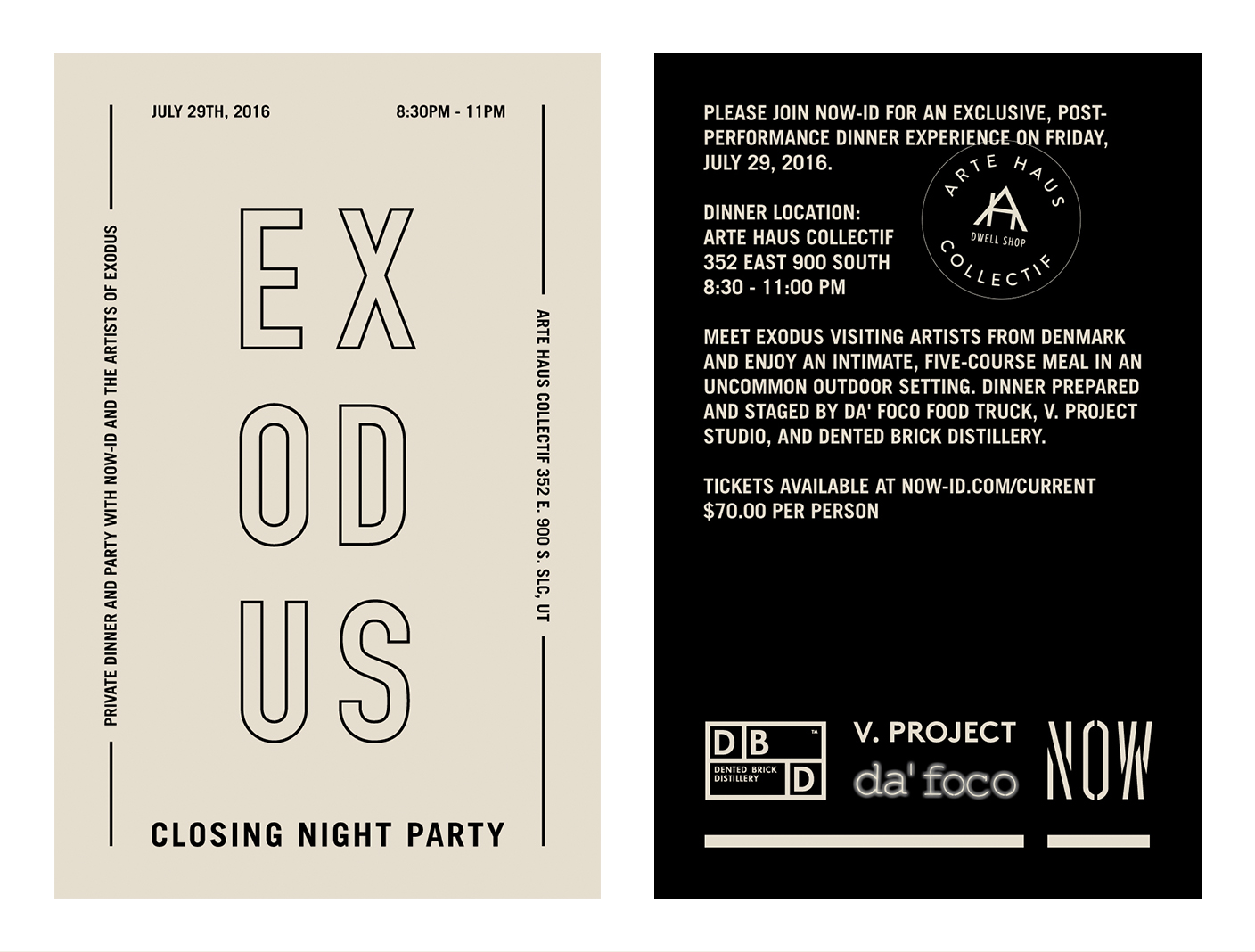 Arte Haus Collectif We Are Having An Exodus Dinner Party On July 29th Where You Get