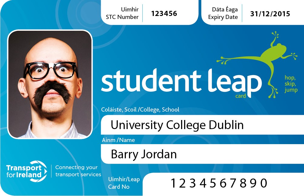 Example student identification card - student identification card