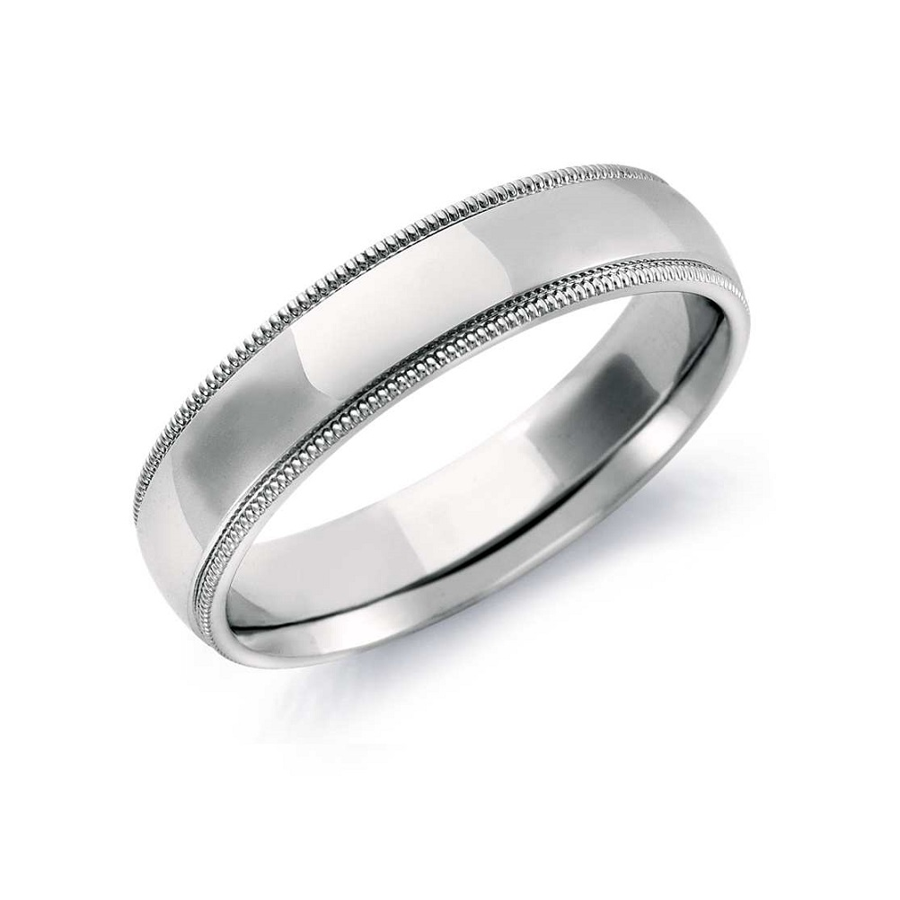 wedding classic wedding rings Men s classic wedding band in milgrain trim