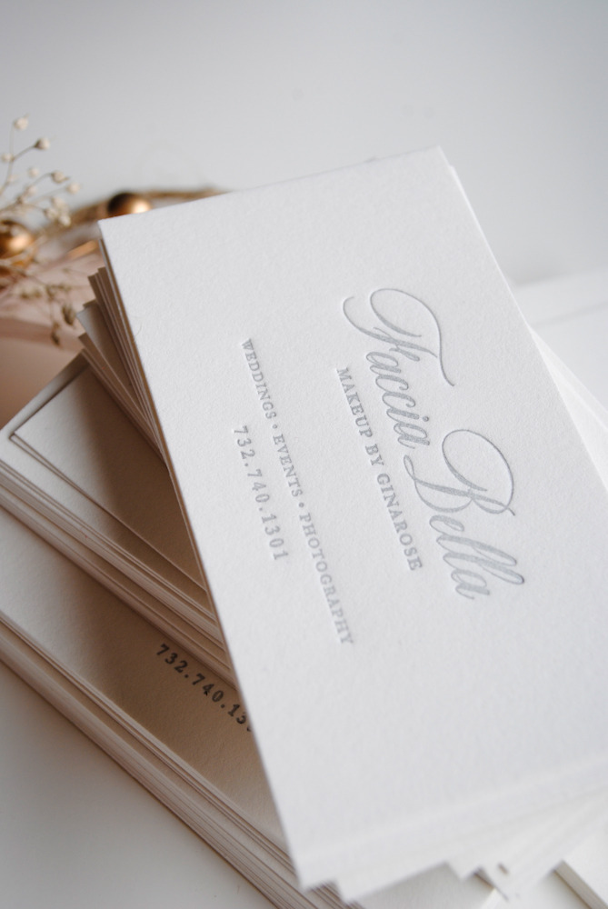 Letterpress Business Cards \u2014 Ink  Ivory